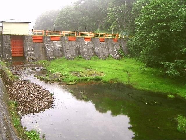 千歳川の王子製紙水力発電施設群...