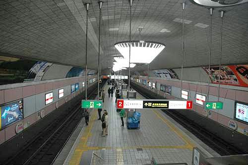 心斎橋駅舎他、御堂筋線の地下駅...